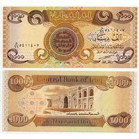 Ирак. 1000 динаров (образца 2003 года, P93a, UNC)