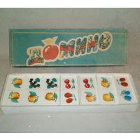 Детское домино СССР ягоды фрукты