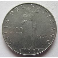 Ватикан 100 лир 1957