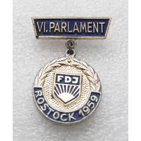VI. PARLAMENT FDJ. ROSTOCK 1959. ГДР. 7 Съезд Комсомольской Организации 1959 год #0405-LP6