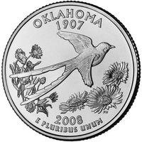 США 25 центов 2008 Оклахома D