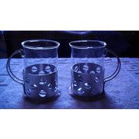 Стаканы для кофе с подстаканниками 2 шт. распродажа