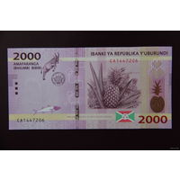 Бурунди 2000 франков 2015 UNC