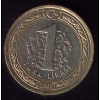 1 Лира 2009 год Турция
