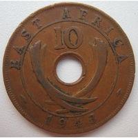 Британская Восточная Африка 10 центов 1943 г. (g)