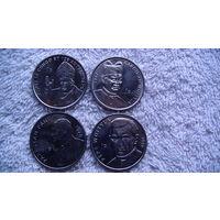 Демократическая республика Конго 2004г. 1 франк. 4 монеты Папа Римский Иоан-Павел II. распродажа