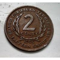 Восточные Карибы 2 цента, 1955 3-6-6