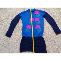 Платье вязаное теплое