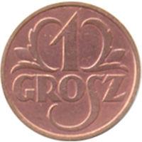 Польша 1 грош 1936г. ( 2 )