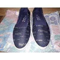 Новые джинсовые балетки кеды, размер 38-39