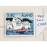 Марки Аландские о-ва: 1м парусники 1995г