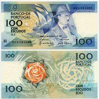 Португалия. 100 эскудо (образца 1987.12.03 года, P179d, подпись 3, UNC)