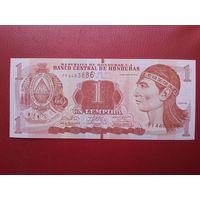 Банкнота 1 лемпира Гондурас.