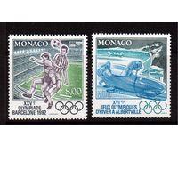 Монако-1992,(Мих.2052-2053)  **  Спорт, ОИ-1992