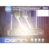 Беспроводные Микрофоны Denn DWM 200, б-у, под ремонт ; 45 р