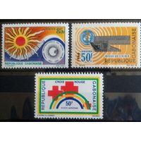 Габон 3 марочки 1966