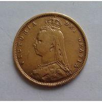 1/2 соверена, 1890, золото