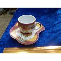 Чашка кофейная с блюдцем. Фарфор.