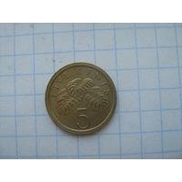 Сингапур 5 центов 1988г.