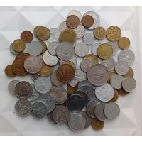 Монеты Иностранные, 85 штук, 220 грамм, VF