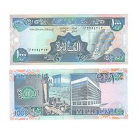 Банкнота Ливан 1000 ливров 1988 UNC ПРЕСС