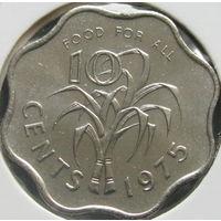 Свазиленд 10 центов 1975 КМ#23 ФАО в холдере