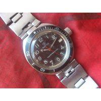 Часы АМФИБИЯ 2416 АВТОПОДЗАВОД из СССР , РЕДКИЕ , с БРАСЛЕТОМ
