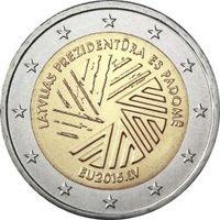2 евро Латвия Представительство Латвии в Совете Европейского саюза. Из ролла