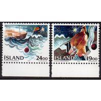 Исландия. Рождество и Новый год. Море. Рыбаки. 1988 год **
