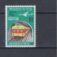 [859] Юж.Корея 1974.Метро,поезда,локомот ивы.