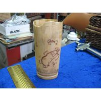 Клык моржа с гравировкой. Чукотка, Уэлен-2000 г, 11,5 см.