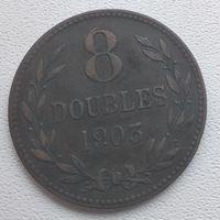 Гернси 8 дублей, 1903  6-6-7