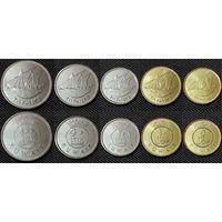 Кувейт НАБОР 5 монет 2013-2016 UNC