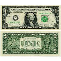США. 1 доллар (образца 2009 года, K, Техас, P530, UNC)