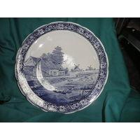 С 1 рубля.Блюдо тарелка декоративная Делфтский фарфор bochf диаметр 39,5 см
