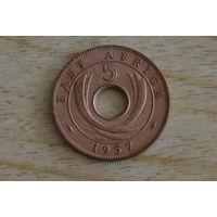 Восточная Африка 5 центов 1957