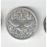 1 франк 1988 года Новой Каледонии 20-22