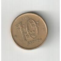 10 крон 1991 года Швеции 30