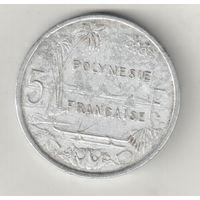 Французская Полинезия 5 франк 1965