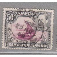 Кения Уганда Танганьика 1938 король Георг 6 Известные люди  1938 год лот 1