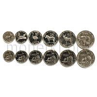 Эритрея 6 монет 1997 года. Животные