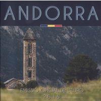 Андорра 2016 Официальный Годовой набор Евро 8 монет BU (улучшенный UNC) номер  24.683