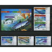 Сахара 1999г. тропические рыбы. 6м. 1 блок