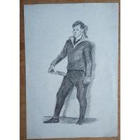 Крохалев Петр. Учитель физкультуры. 21х29.5 см. Рисунок. Бумага. карандаш