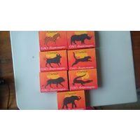 """Спичечные коробки """"Африканские животные"""" полный набор Цена за все"""