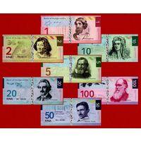 Бугенвиль (Папуа-Нов. Гвинея), ВСЯ СЕРИЯ - 1, 2, 5, 10, 20, 50 и 100 кина, 2014, UNC