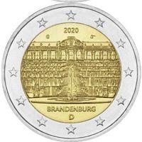 2 евро 2020 Германия Дворец Сан-Суси в Потсдаме G UNC из ролла