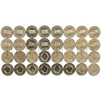 Турция 16 монет 2015 года. Флаги (Великие империи Турции)