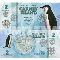 Остров Карней 2 доллара 2016 год  UNC. фентези.  распродажа