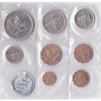 Судан. набор 8 монет 1,2,5,10 миллим 2,5,10, 20 гирш 1967 год Номер по каталогу Краузе: KM#PS1 Тираж: 7,834